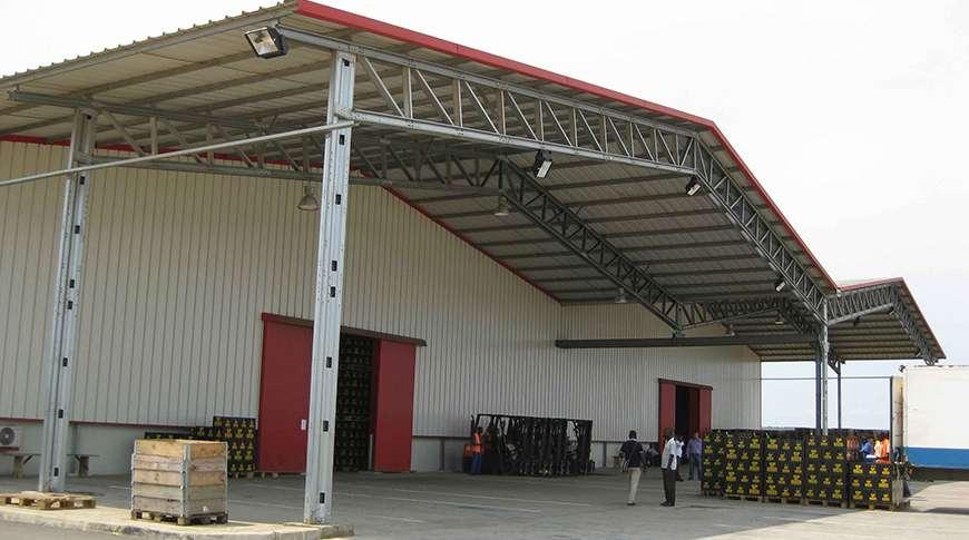 production hall PEB steel industrial buildings