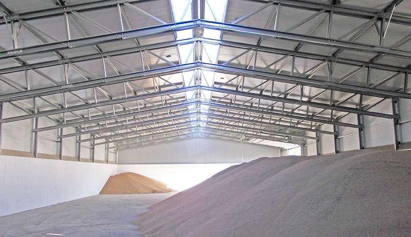 bulk storage industrial steel building